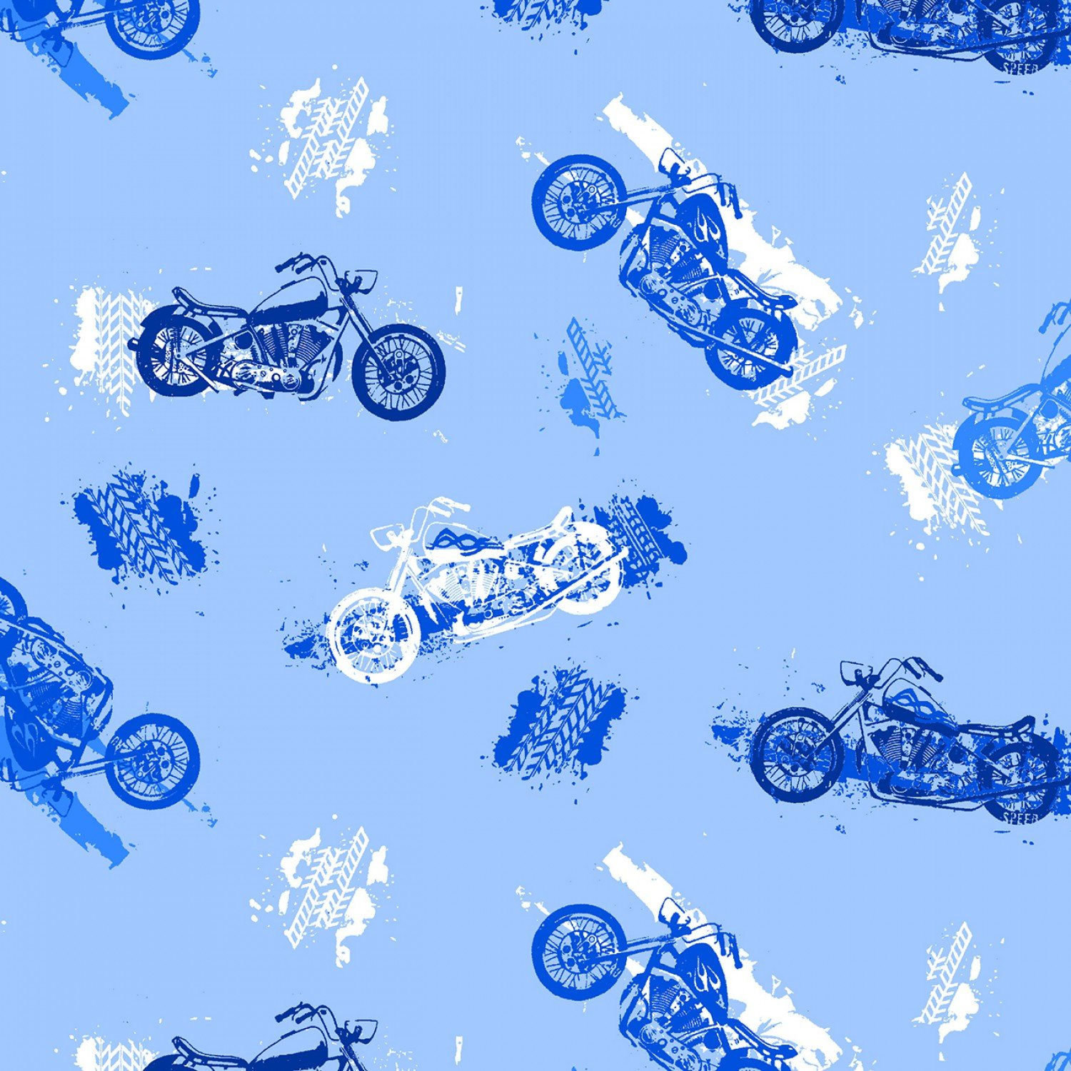 Flannel Motorcycle Blue