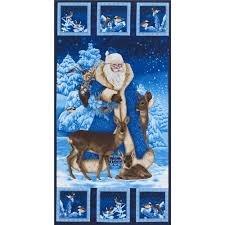 Timeless Treasures Saint Nicholas Panel-Blue