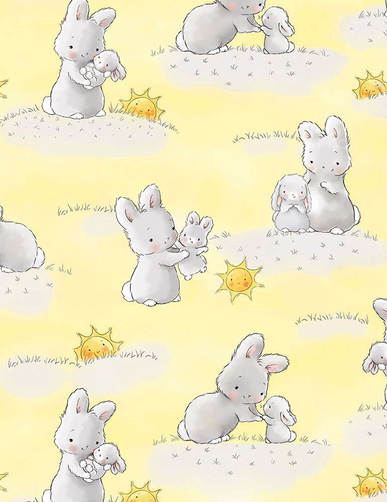 Bunnies and little ones with sunshine