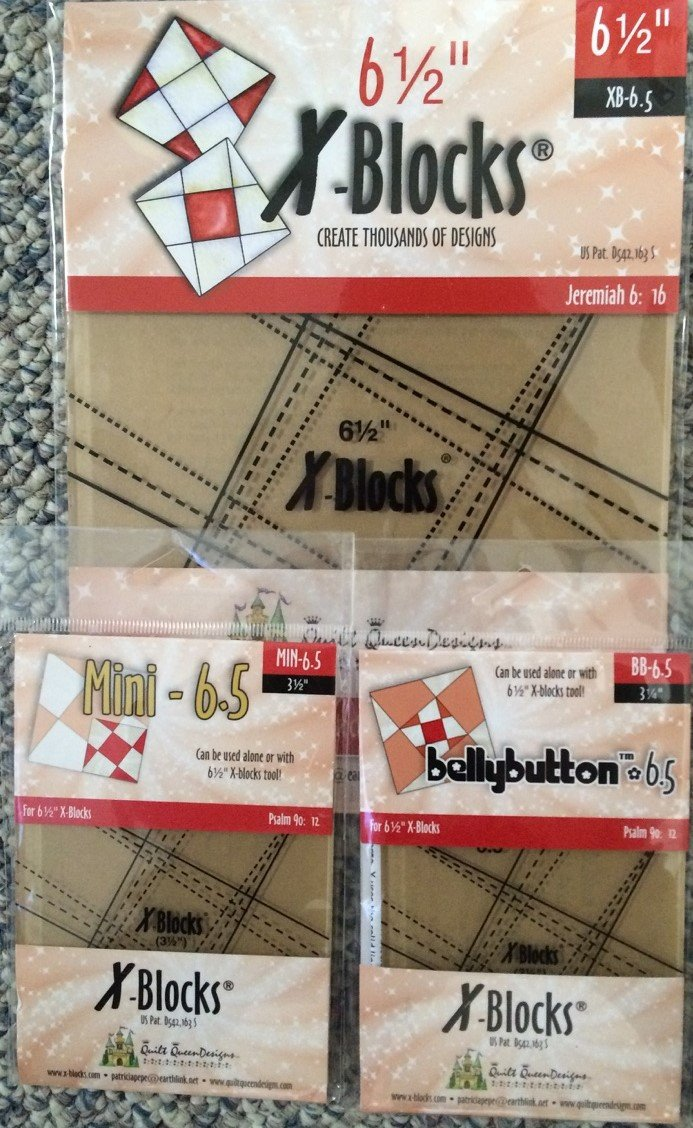 3 pack-6.5 inch X-Blocks Templates + Pattern