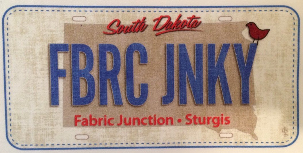 Fabric Junction Fabric Junky License Plate
