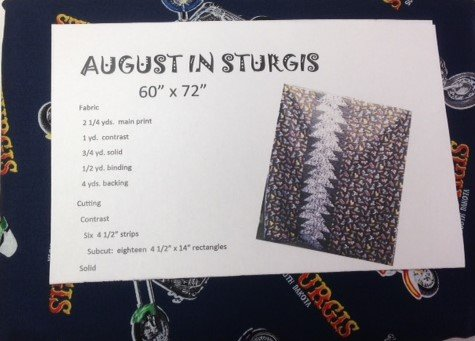 August in Sturgis Quilt Kit