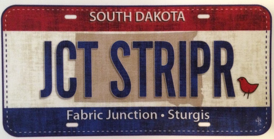 Fabric Junction Junction Stripper License Plate