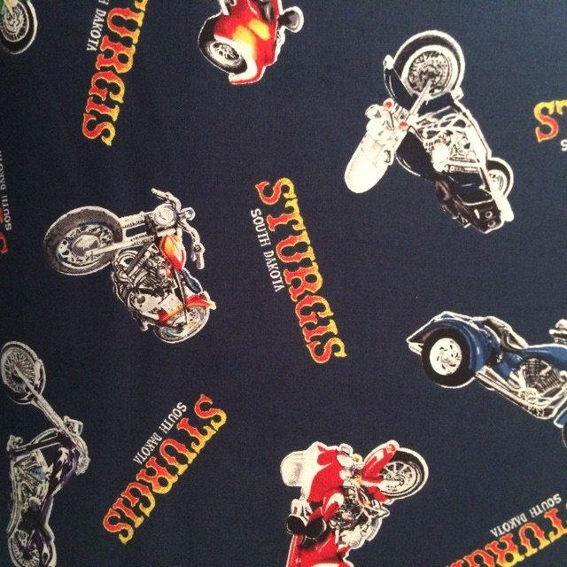 RK 2016 Sturgis Motorcycle Print-Navy