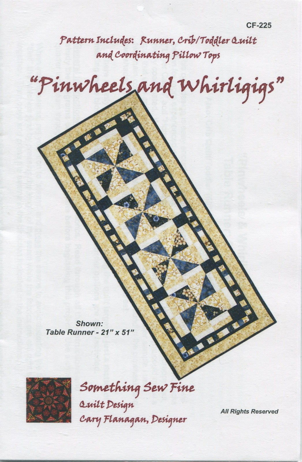 Pinwheels and Whirligigs Runner and Quilt Pattern