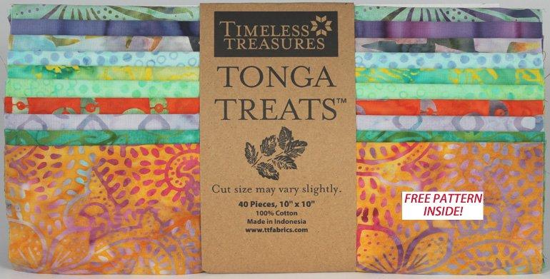 Timeless Treasures Tonga Treats 10 Square  Quilt Kit