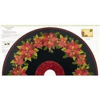Henry Glass Winter Sanctuary Poinsettia Tree Skirt