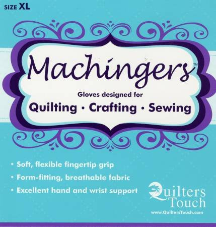 Machingers Quilters Gloves - Extra Large by Quilters Touch
