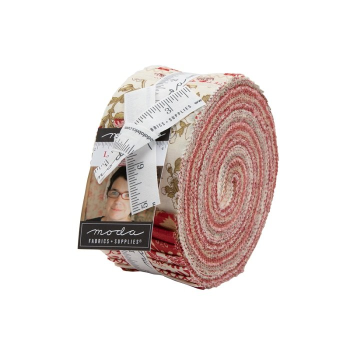 Jelly Roll - La Rose Rouge (40 x 2.5 strips) by French General for Moda