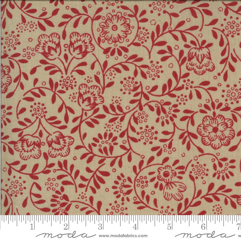 La Rose Rouge - Perpetue in Roche and Rouge by French General for Moda