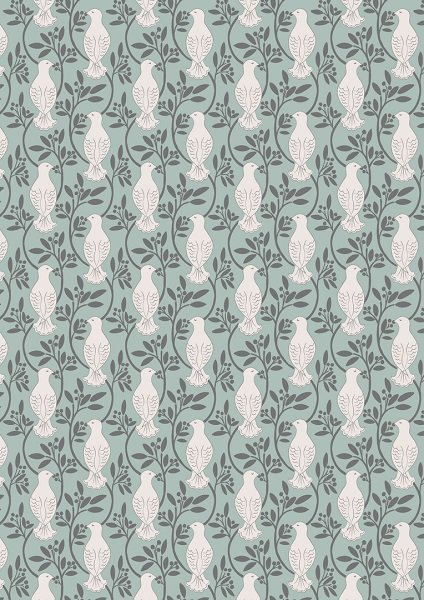 Dove House - Doves in White on Aqua by Lewis & Irene
