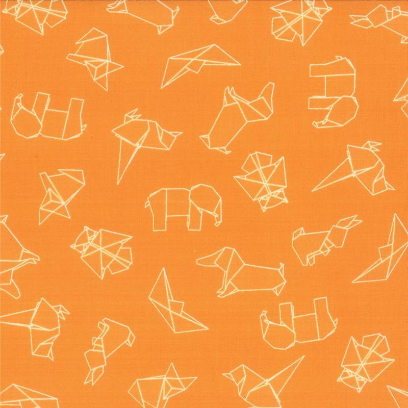 Mixed Bag - Origami on Orange by Studio M for Moda