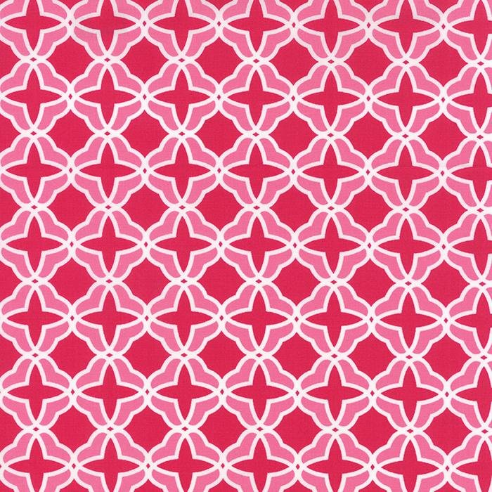 Best. Day. Ever! - Geometric Trellis in Raspberry by April Rosenthal for Moda