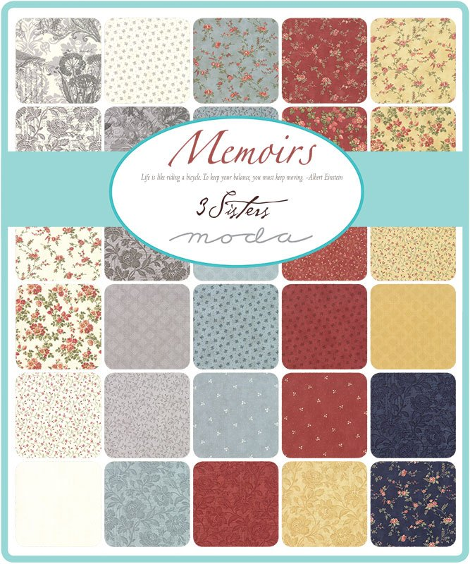 Charm Squares - Memoirs (42 x 5 squares) by 3 Sisters for Moda