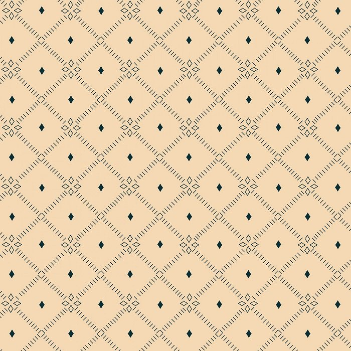 Blush and Blue - Diamond Lattice in Cream by Kim Diehl for Henry Glass