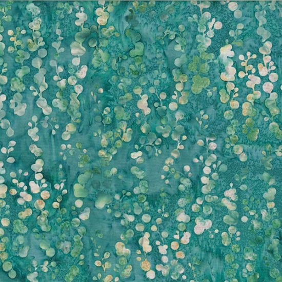 Oasis Batiks - Wisteria in Turquoise by McKenna Ryan for Hoffman