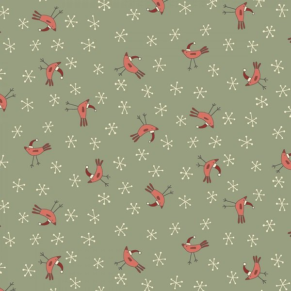 Home for Christmas - Birds on Light Blue by Anni Downs for Henry Glass