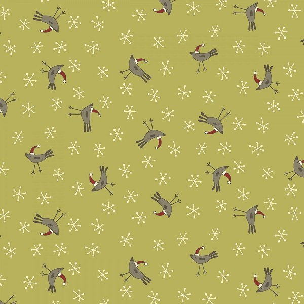 Home for Christmas - Birds on Green by Anni Downs for Henry Glass
