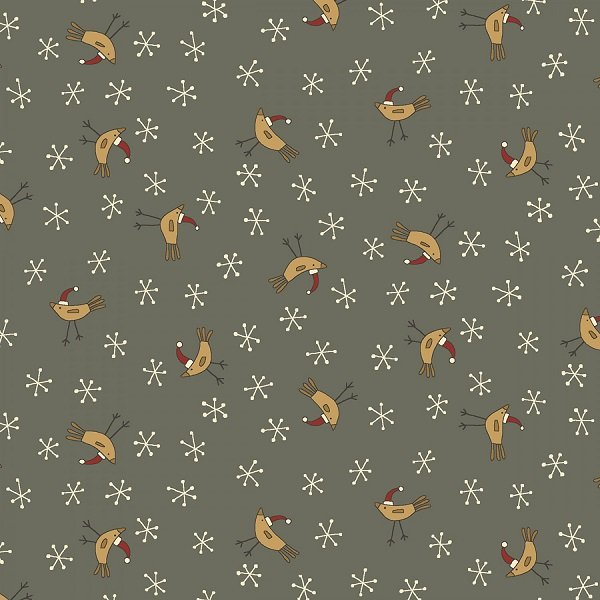 Home for Christmas - Birds on Dark Blue by Anni Downs for Henry Glass