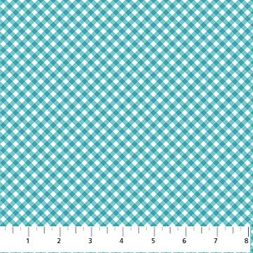 Bundle of Love - Modern Baby Gingham in Turquoise by Deborah Edwards for Northcott