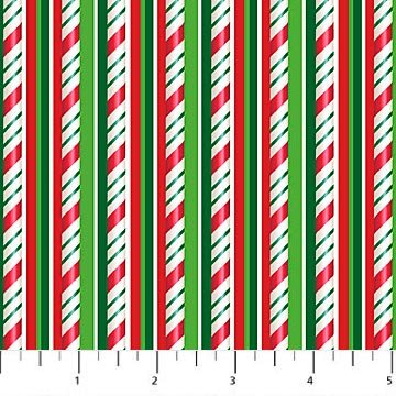 Jolly Old St. Nicholas - Candy Cane Stripe by Larry Jones for Northcott