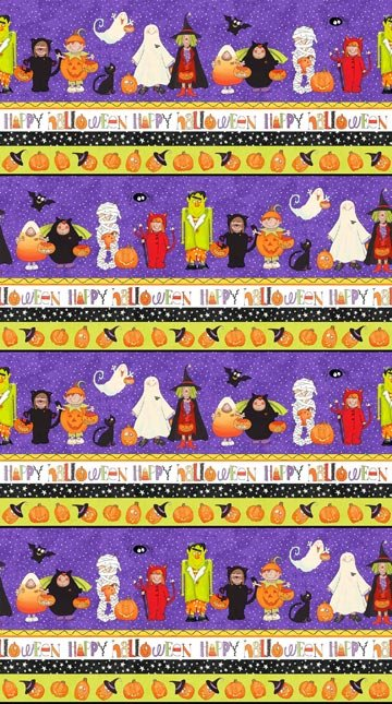 Happy Halloween - Border Print by Julie Dobson Miner for Northcott