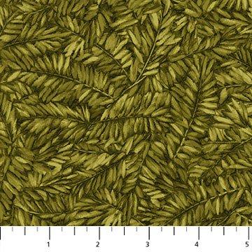 Mountain Springs - Pine Boughs in Dark Green by Deborah Edwards for Northcott