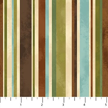 Mountain Springs - Stripe in Brown and Green by Deborah Edwards for Northcott