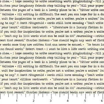 Letterpress - Typing on Natural by Deborah Edwards for Northcott
