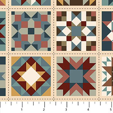 Heritage Quilting - Quilt Block Print by Kim Norlien for Northcott