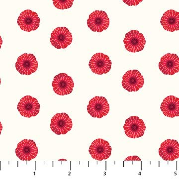 Poppy Love - Poppies on White by Northcott Studio