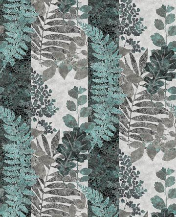 Artisan Spirit - Shimmer Luminous Striped Foliage in Ice by Northcott