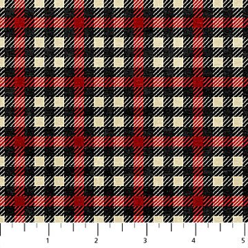 Canadian Classics - Plaid in Red and Black by Deborah Edwards for Northcott