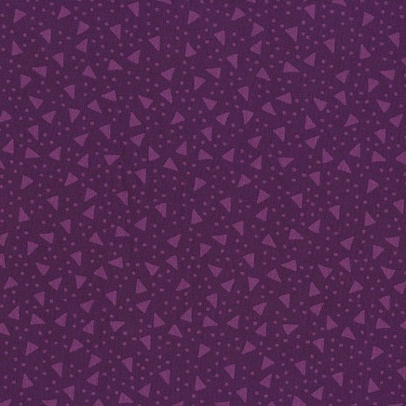 Boutique Brights - Tossed Triangles in Purple by Sue Marsh for RJR Fabrics