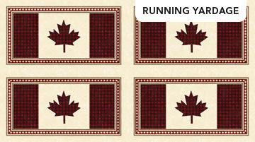 Panel - Canadian Classics 2 Plaid Flags (43 x 24 = 4) by Deborah Edwards for Northcott