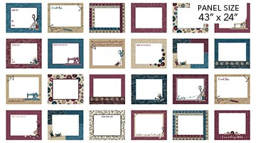 Quilt Labels - Material Girl in Teal Multi (43 x 24) by Nina Djuric for Northcott