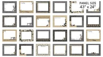 Quilt Labels - Material Girl in Taupe Multi (43 x 24) by Nina Djuric for Northcott