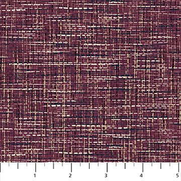Material Girl - Weave Texture in Wine by Nina Djuric for Northcott