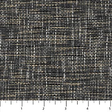 Material Girl - Weave Texture in Charcoal by Nina Djuric for Northcott