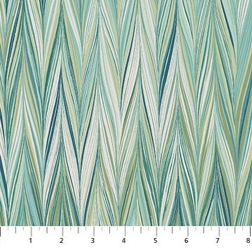 The Art of Marbling - Marble 4 in Blue Lagoon by Heather Fletcher for Northcott