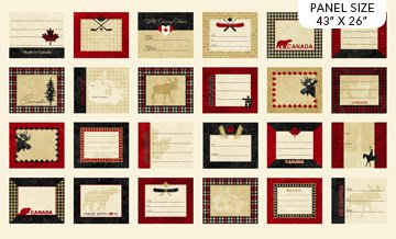 Panel - Oh Canada 8 Quilt Labels (43 x 26) by Deborah Edwards for Northcott