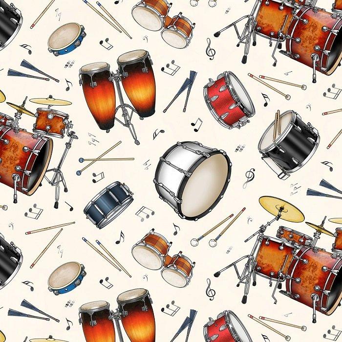 Jazz - Percussion on Cream by Elizabeth's Studio