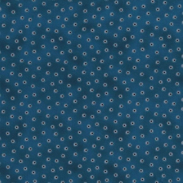 Ink Blossom II - Spots on Teal by Sue Marsh for RJR Fabrics