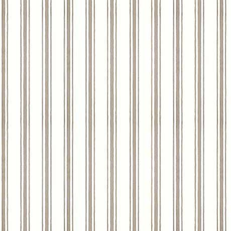 Hatters Tea Party - Ticking Stripe in Gray by Janet Wecker-Frisch for Quilting Treasures