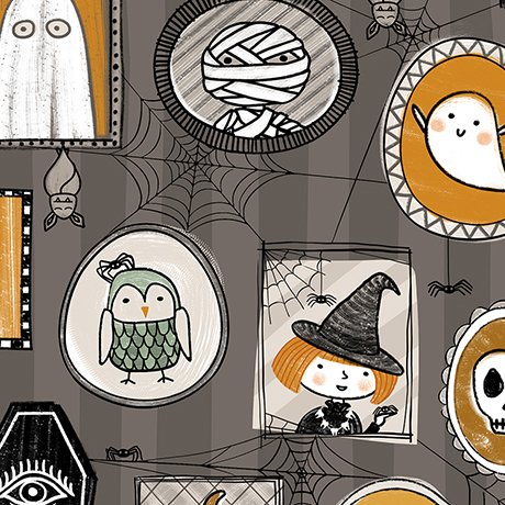Boos & Ghouls - Halloween Characters in Gray by Alicia Jacobs Dujets for Ink & Arrow