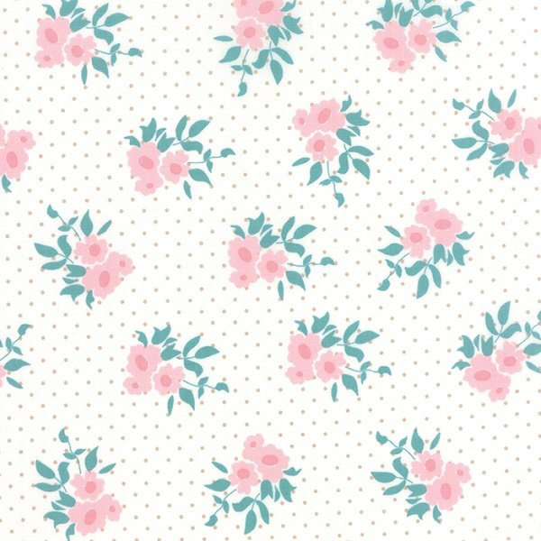 Kindred Spirits - Medium Floral on Ivory by Bunny Hill Designs for Moda
