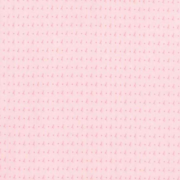 Kindred Spirits - Tiny Ribbons on Pink by Bunny Hill Designs for Moda