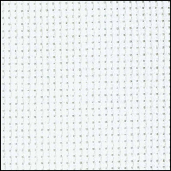 Aida Cotton 16 count in White (15 x 18) by Charles Craft