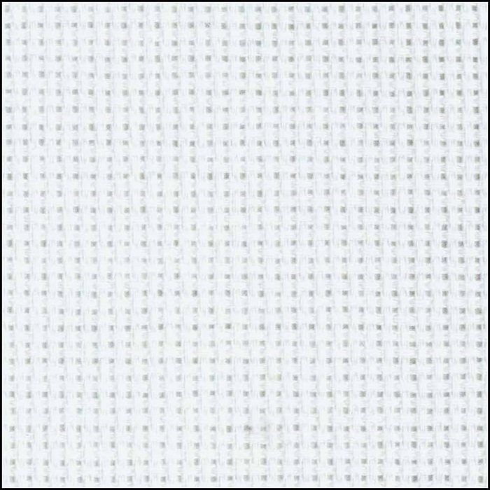 Aida Cotton 18 count in White (15 x 18) by Charles Craft