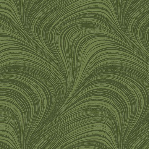 Wave Texture in Medium Green by Jackie Robinson for Benartex